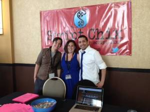 (L-R) Miranda, Sandra & budgeter/scheduler extraordinaire, Hosam, who is not part of this interview