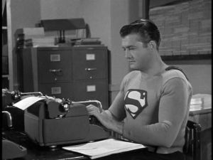 typing Superman