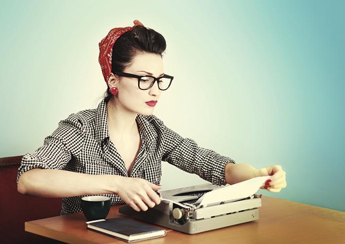 hipster writer